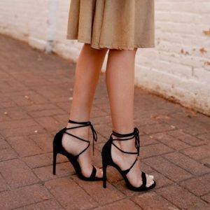 Steve Madden Black Lace Up Presidnt Heels